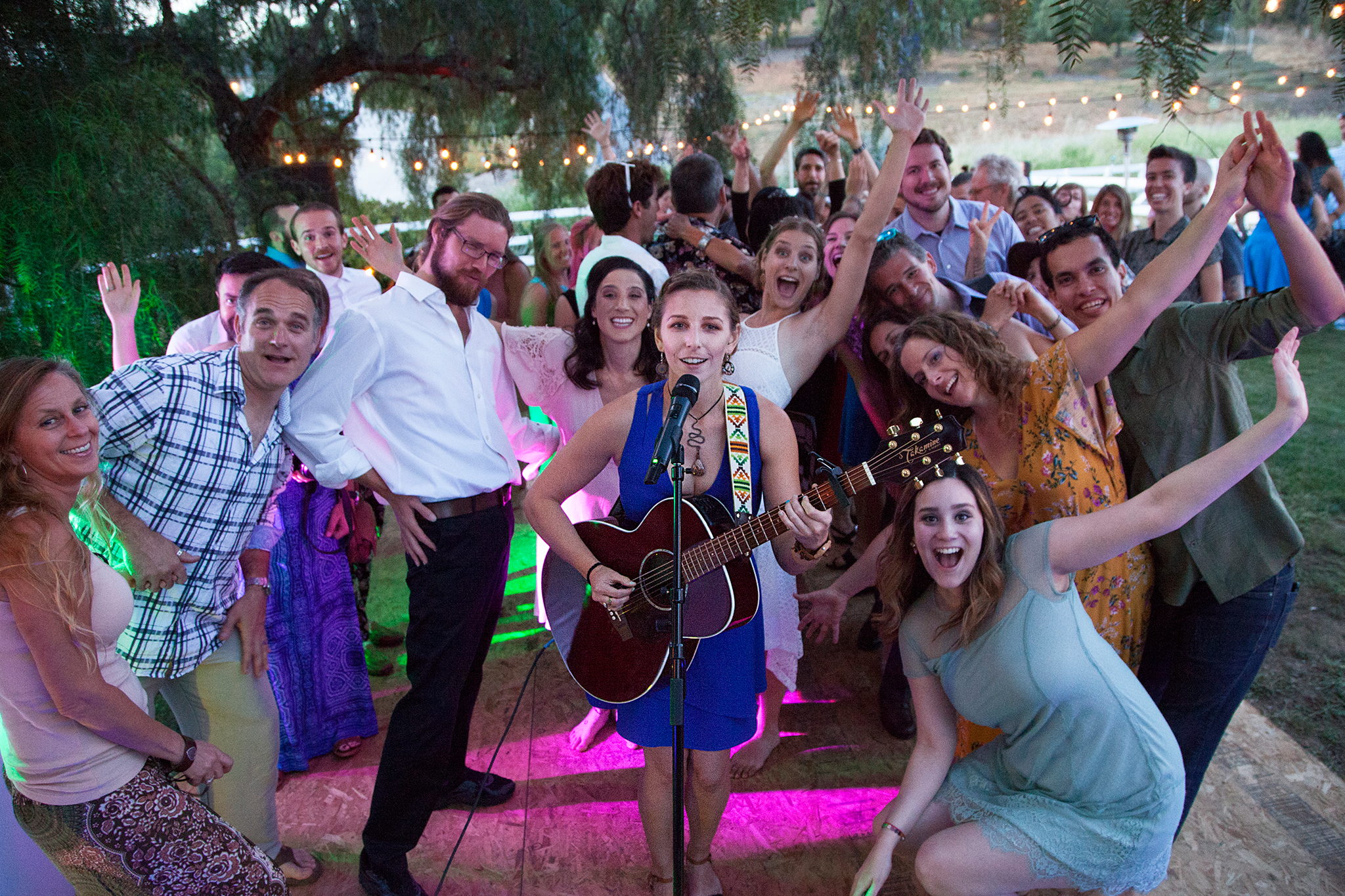 Playing Stuck on You by Meiko at my friends Earth Day Wedding!