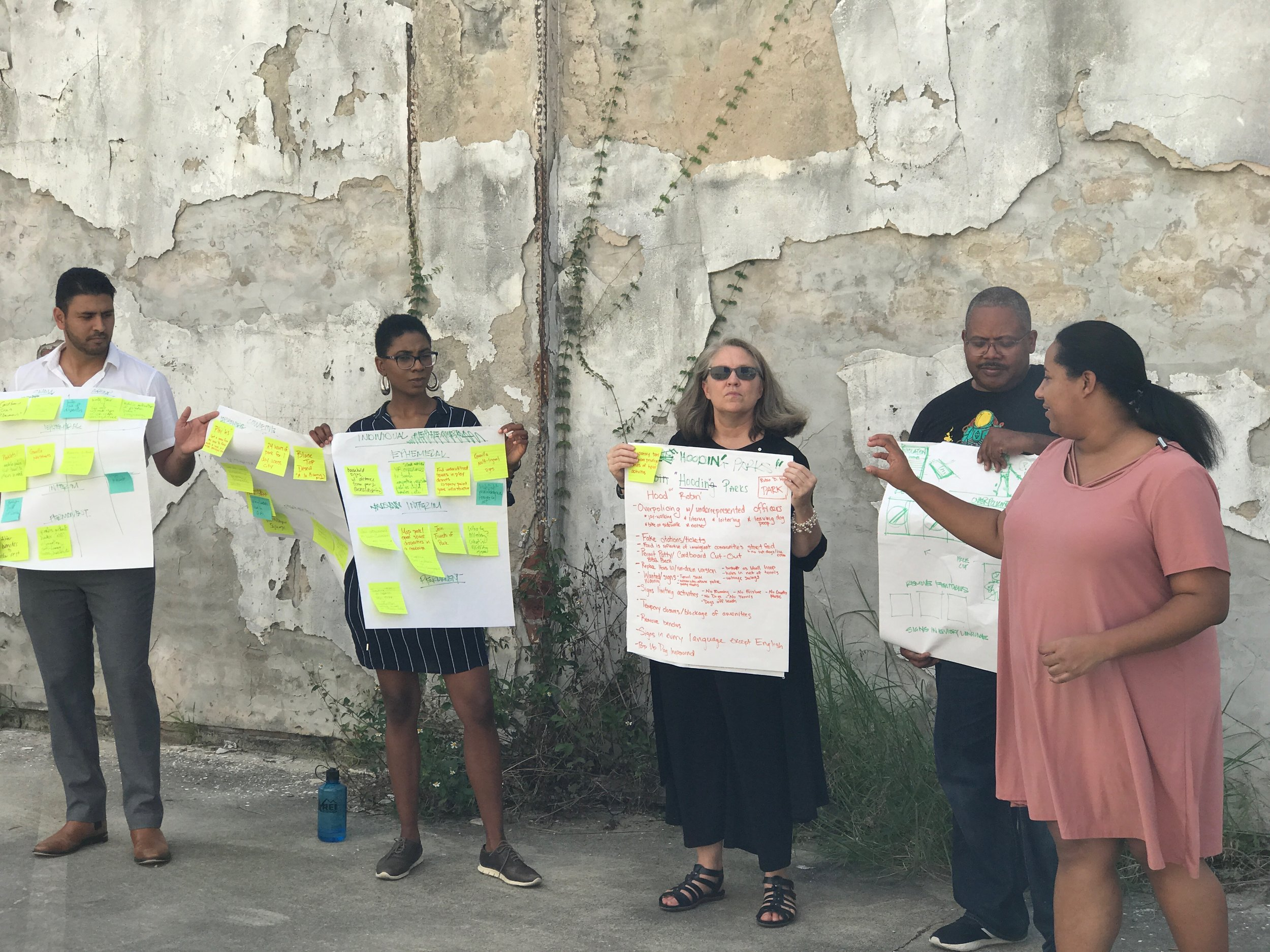 Workshopping at the 2018 Design Justice Summit