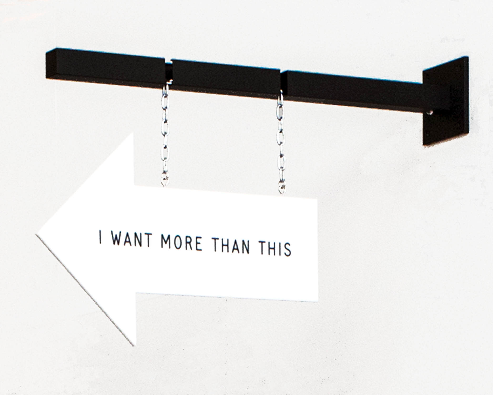 I WANT MORE THAN THIS   – neckpiece and display (2015)  Pantograph engraved perspex, crayon, chrome industrial chain, sterling silver, aluminium