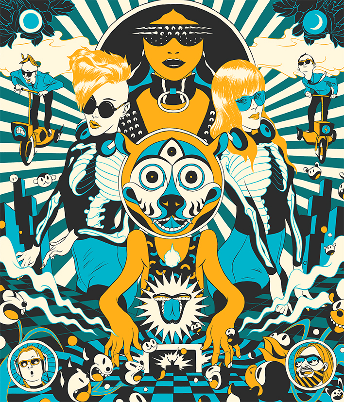 Cun Shi Illustration Art New Yorker Electric Zoo