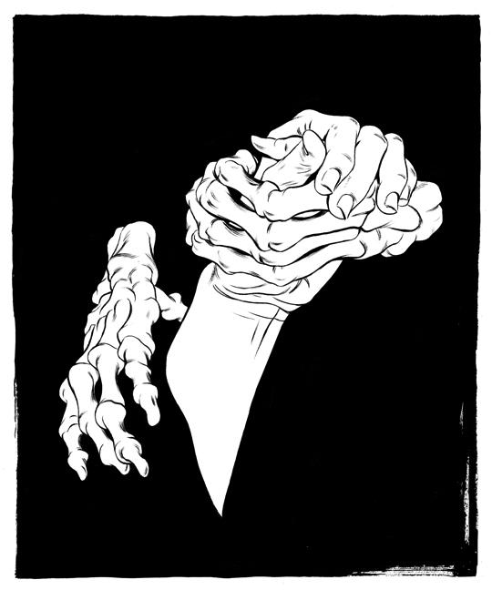 Cun Shi Illustration art inked death 2