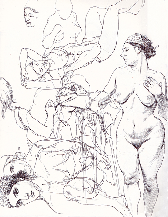 Cun Shi Illustration drawing nude