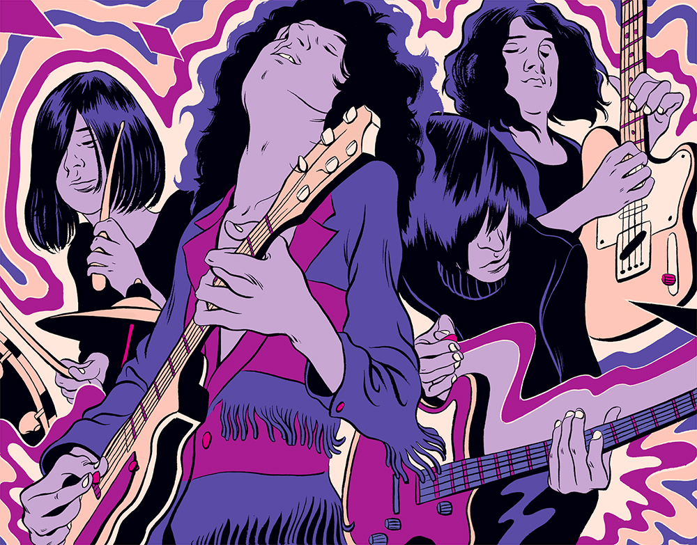 Cun Shi Illustration Art New Yorker Temples Band