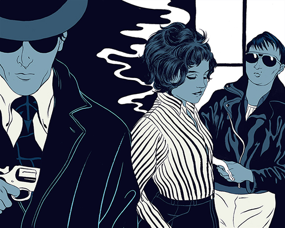 For the 1969 debut film  Love Is Colder Than Death  by German director Rainer Fassbinder, about the complex relationship between a pimp, his girlfriend, and a hitman from the local Syndicate.