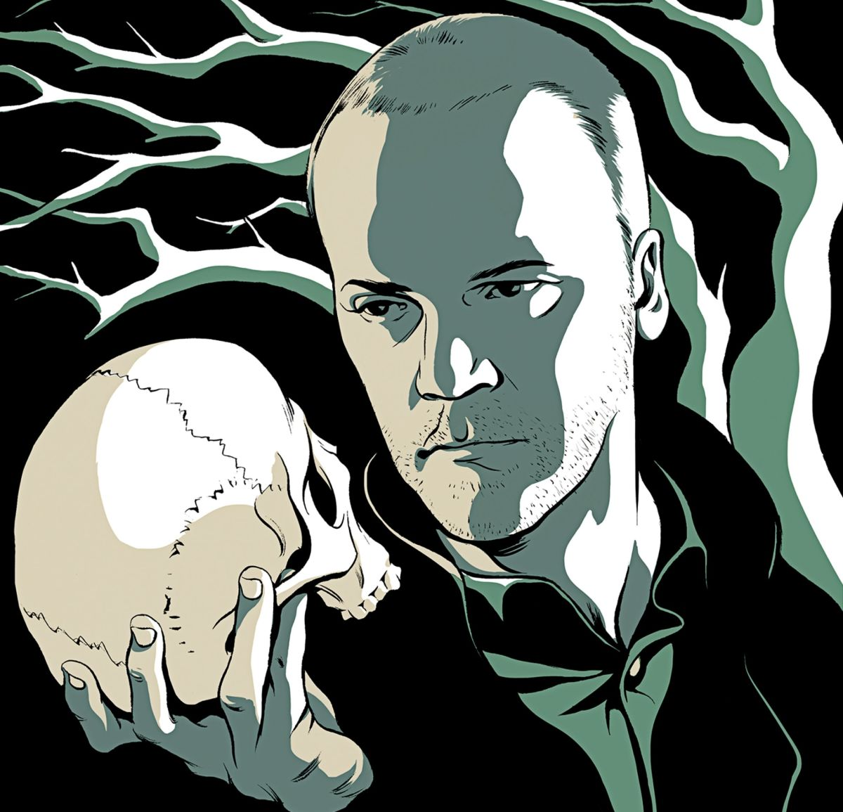 Peter Sarsgaard starring as Hamlet for the upcoming play by Classical Stage Company.