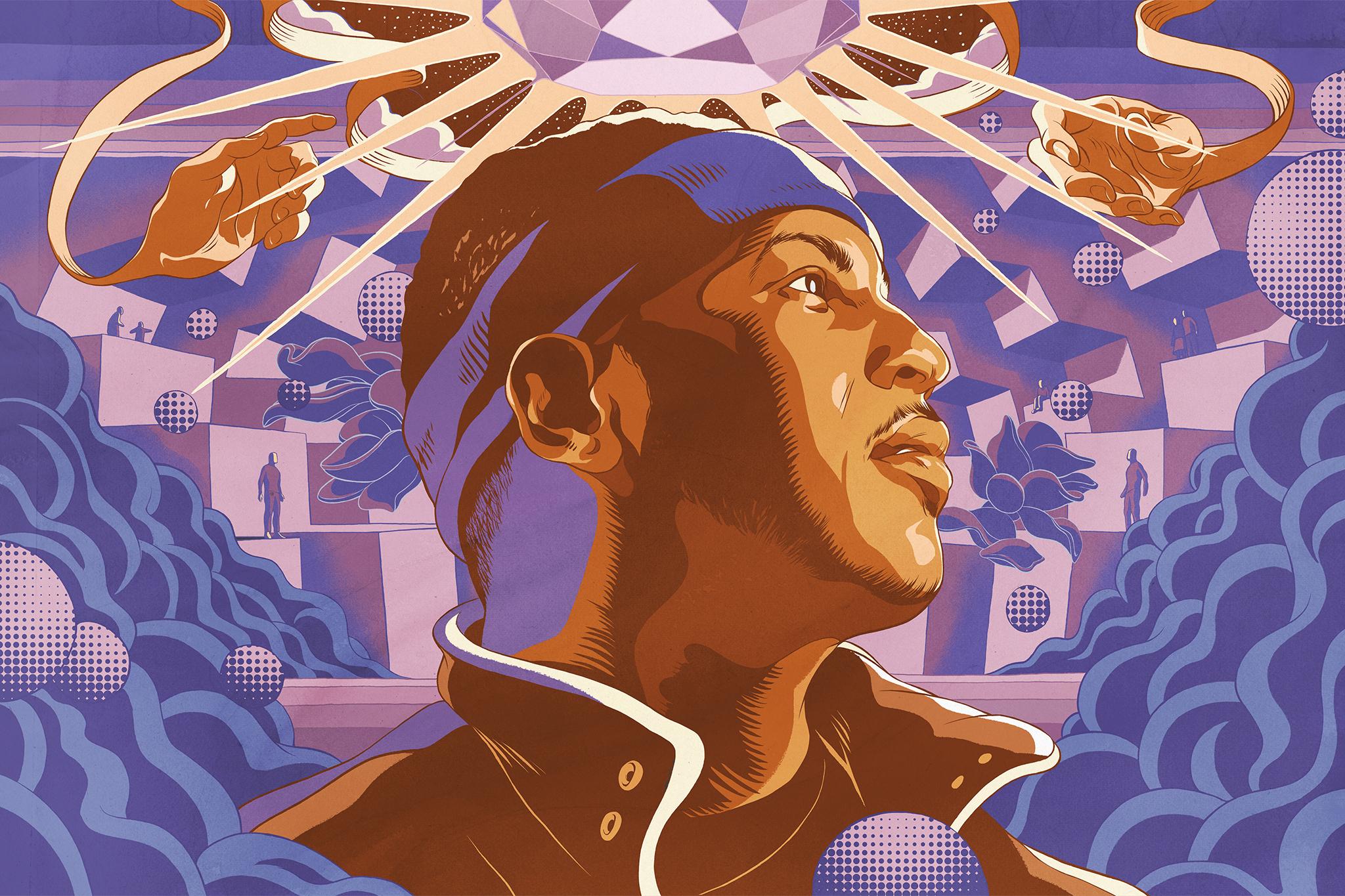 Cun Shi Illustration Art Carmelo Anthony Bleacher Report Knicks Basketball