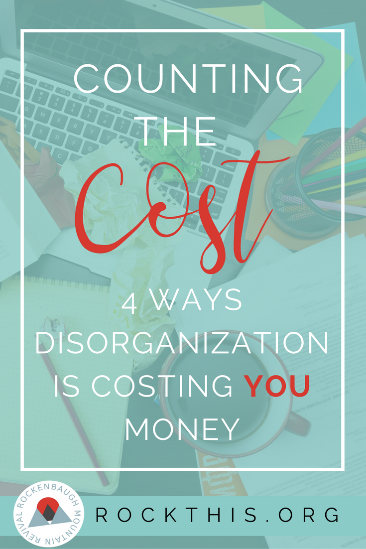 Your budget is already stretched to the limit. Sometimes it seems like spending money to get organized just isn't feasible. The truth, though, is that living a disorganized life negatively effects your pocketbook in four main ways.