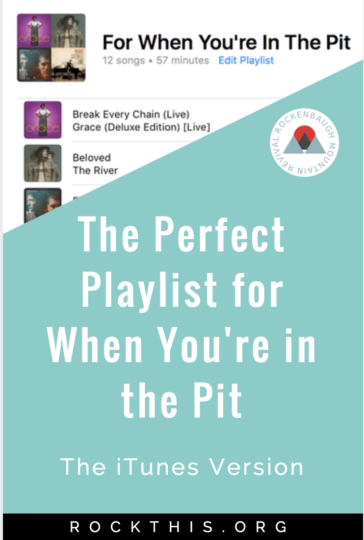 """Are you struggling? Do you wonder how you're going to get out of bed today? Music is powerful """"medicine"""" for pain. Here's a great playlist of Christian songs to drown out the negative voices when you're in the pit of pain."""
