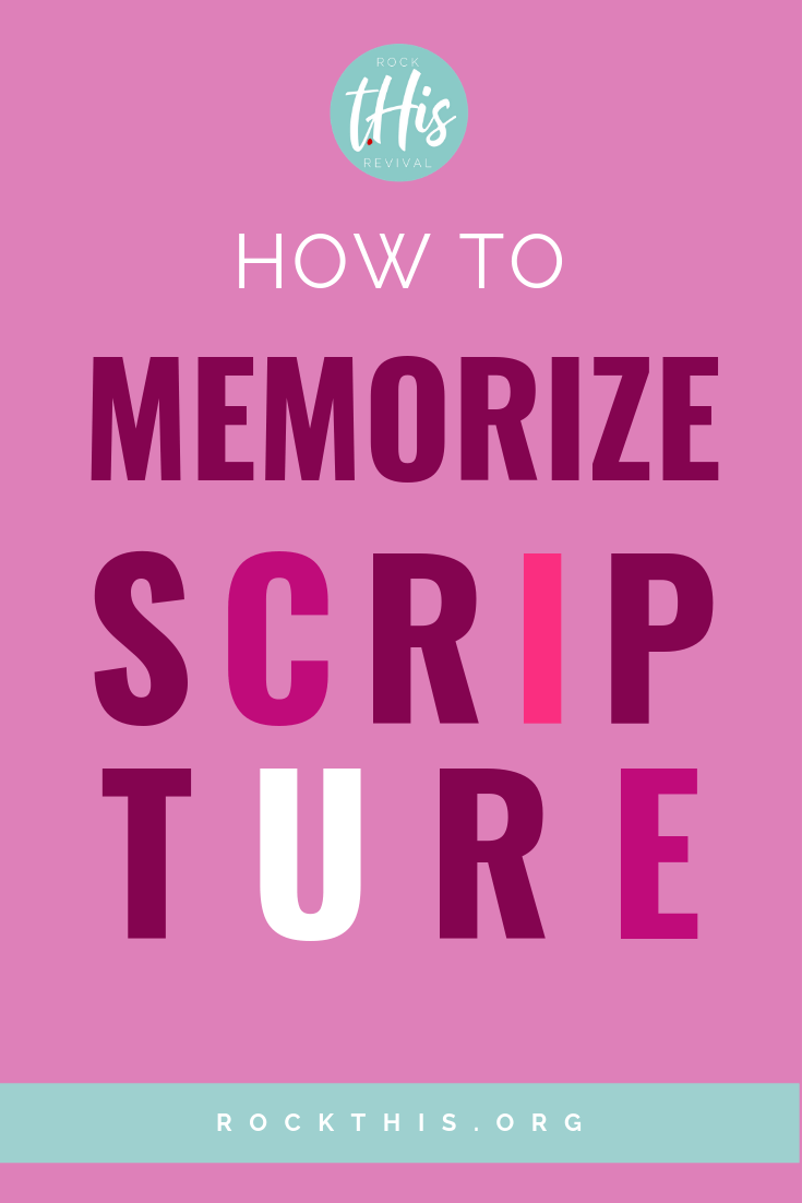 Know you need to make memorizing scripture a priority, but it just doesn't stick?  Finally, 5 easy to use strategies that WORK! #Scripture #Memoryverse #rockthisrevival #Christian