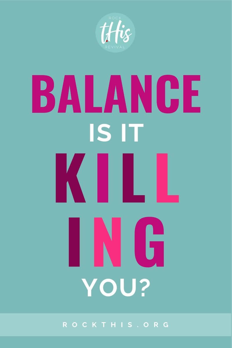Does life feel out of control? Do you think if you can just balance it all, everything will be fine? What if balance is a lie? This is a must read article to help give you a new perspective on what beats balance every time. #rockthisrevival #overwhelm #christian