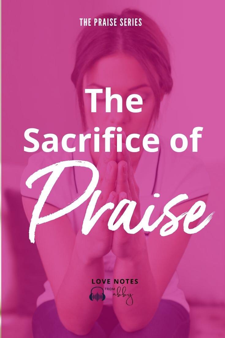Audio Note about the sacrifice of praise. How do you keep a positive attitude when you're struggling? #rockthisrevival #thanksgiving #gratitude