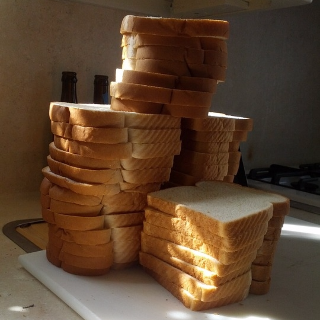 No joke, we could've built a wall of bread double this size with how much of it we were served.