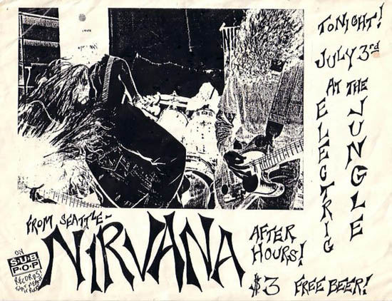 Mussell is offering a $750 reward for this early Nirvana poster from Dallas, TX.