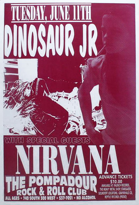 Nirvana collector Scott Mussell is seeking examples of this Salt Lake City Nirvana concert poster. If you have an example contact him at 515.707.7250 anytime or srmussell@me.com.