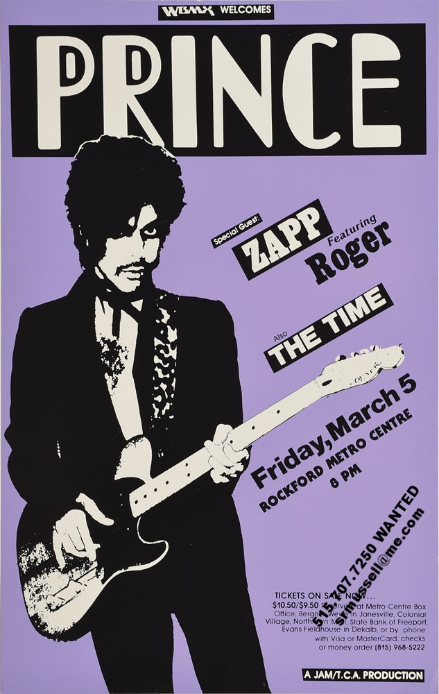Concert poster collector Scott Mussell is offering cash for this and other Prince poster. To find out more contact him at srmussell@me.com or 515.707.7250.