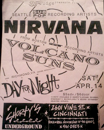 Scott Mussell is seeking this Nirvana flyer from 1990 if you have posters, handbills or any other Nirvana concert flyers contact Mussell at 515.707.7250 anytime or by email at srmussell@me.com.