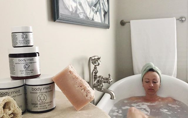 🛀🏼Monday's call for relaxing baths in claw footed bathtubs🧼 This boss babe (@brittany_bivens) is taking her self care to the next level and we are so stoked to be a part of her ritual. 🥰 . . . . . . #virginapothecary #puresimpleskin #selfcaresunday #selfcare #weekendvibes #selfcaretips #selfcarematters #selfworth #loveyourlifestyle #beyoutiful #weekendprep #handcrafted #makermovement #bathroomgoals #selfreflection #ilovemyself #alonetime #youneedit #weallneedlove #sundayvibes #purelife #simplicity #simplepleasures #selfloveisthebestlove #knowledgeofself #selfgrowth #protectyourpeace #plantbasedskincare #smallbatchskincare #letmebeme