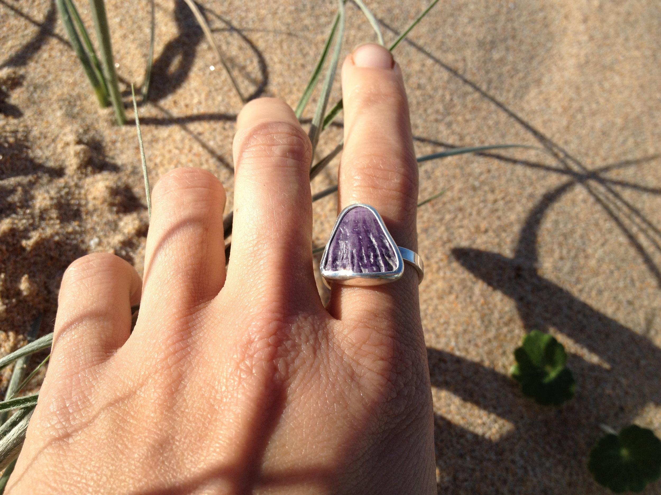 Purple Barnacle Shell Ring
