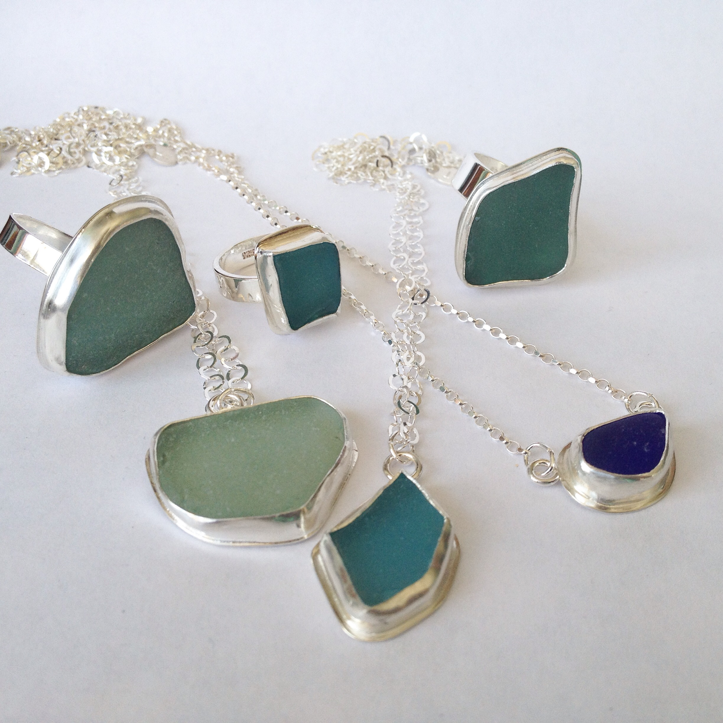 Blues and Turquoise Sea Glass Collection