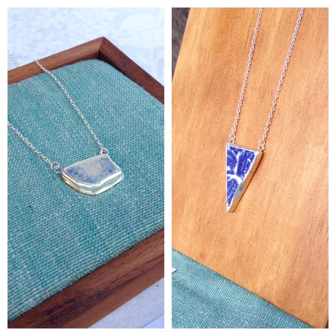 Blue Sea Pottery Necklaces