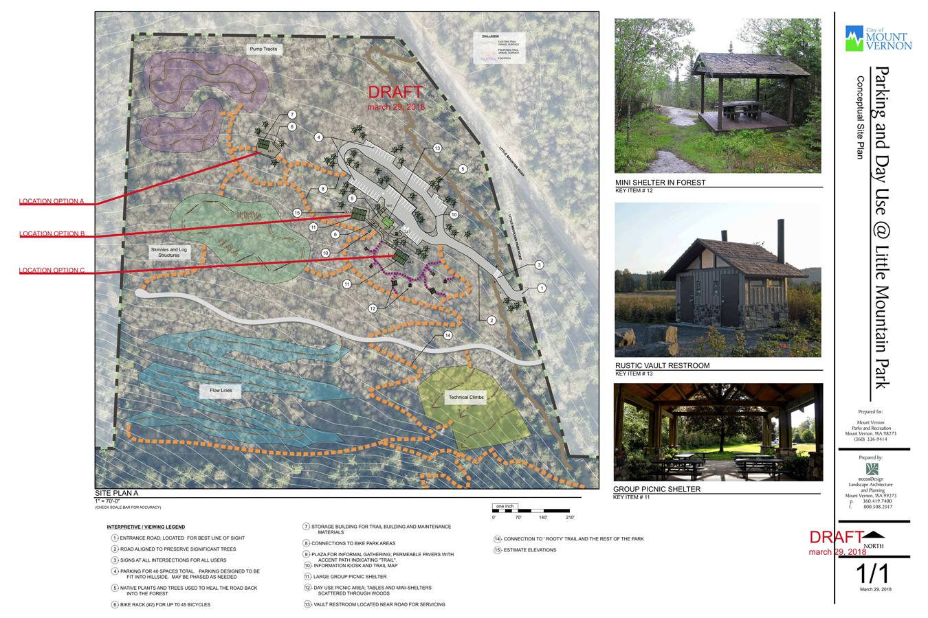 Little Mountain Trailhead Site Plan - Click To Enlarge