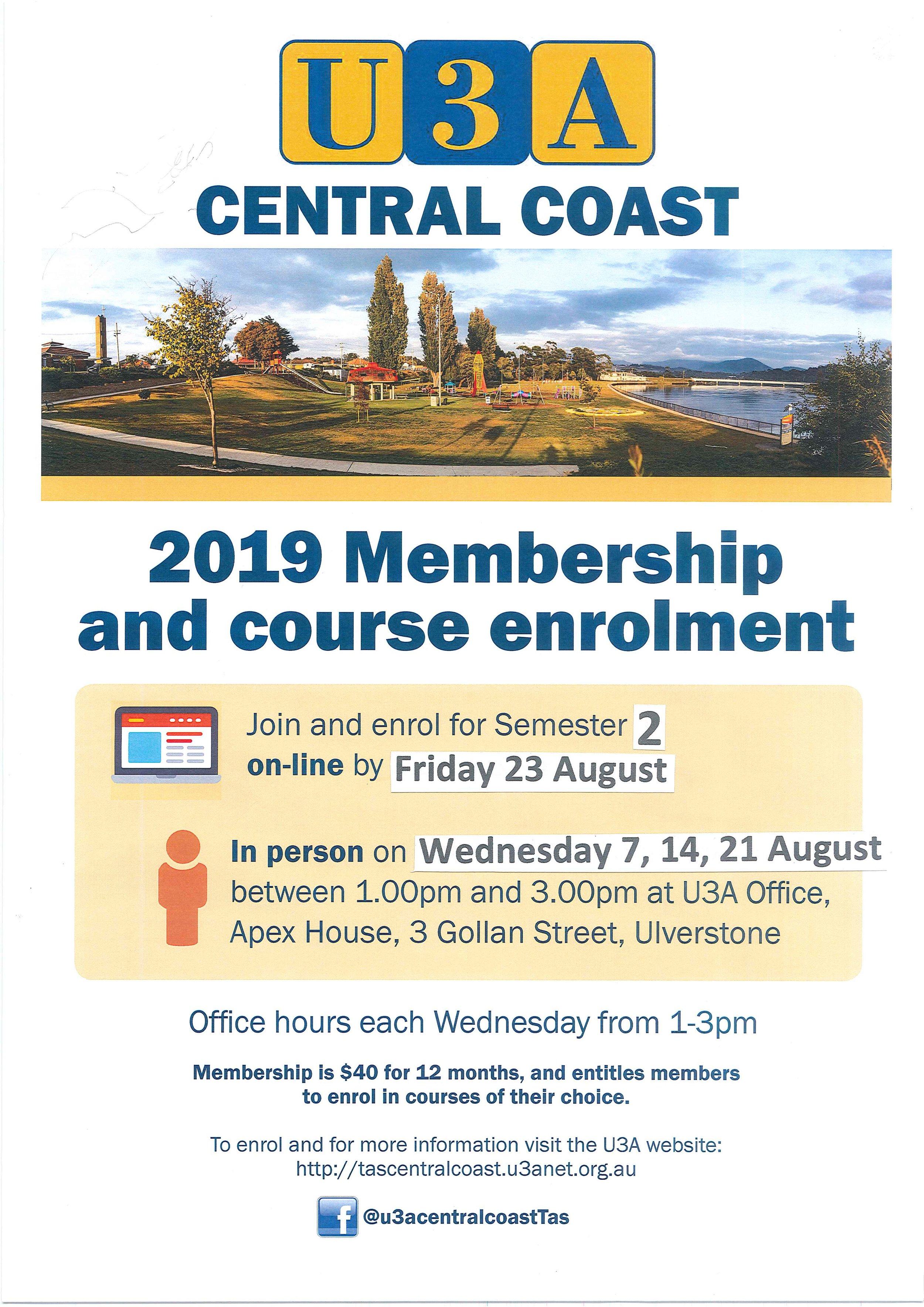 20190823 U3A Central Coast Membership and Course Enrolment.jpg