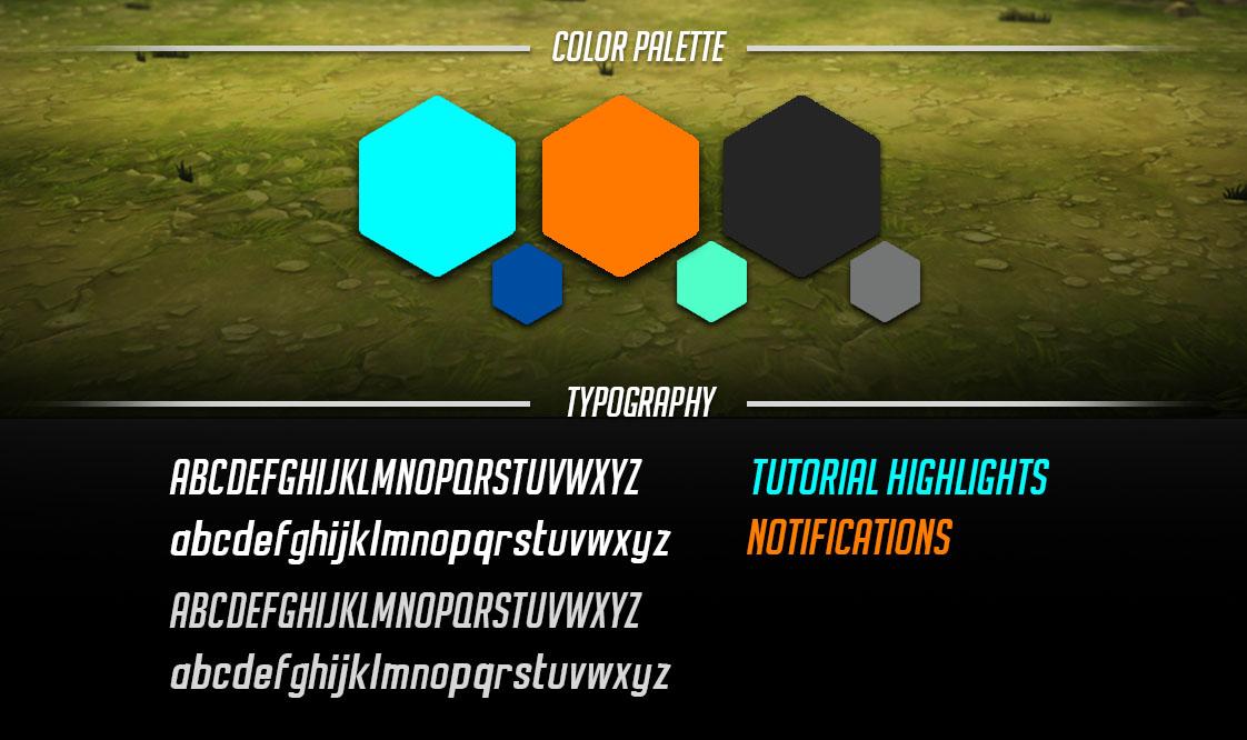 UI color palette and font