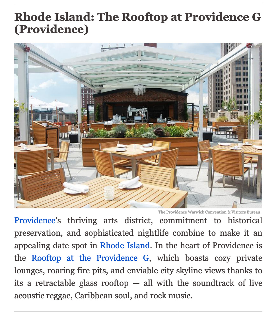 Rooftop At The Providence G Outdoor Dining