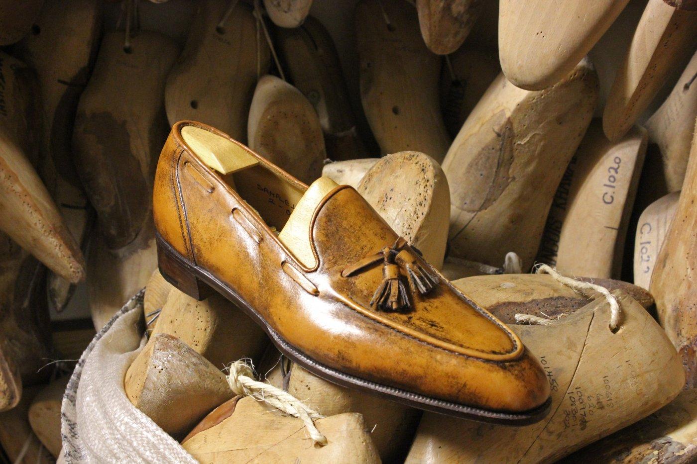A bespoke George Cleverley shoe made for prolific client  Baron de Rédé .
