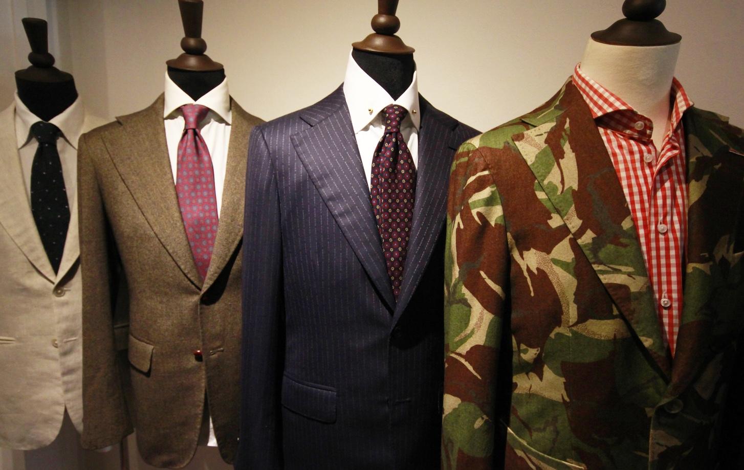 A selection of Kevin Seah bespoke coats.
