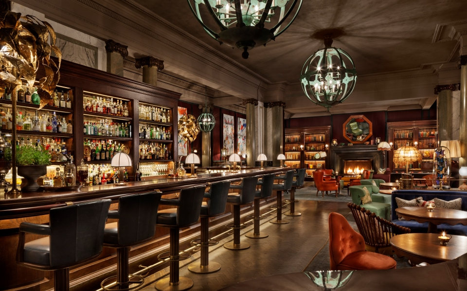 Scarfe's Bar at Rosewood London — an excellent illustration of Arora's Fifth Commandment (above).
