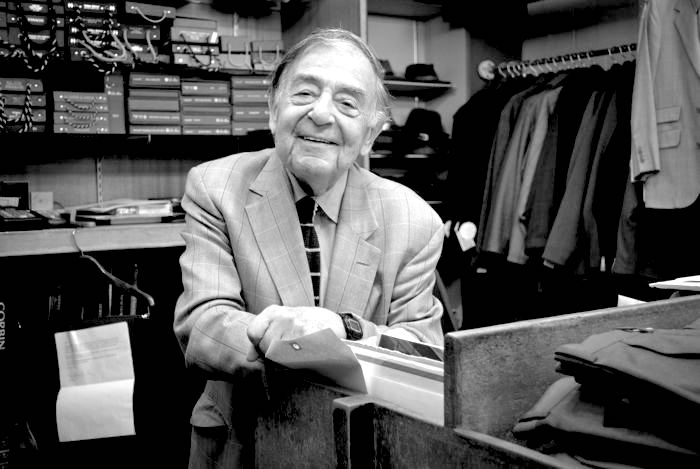 Ninety-year-old trad clothier Charlie Davidson photographed by  Ivy-Style.com  at The Andover Shop.