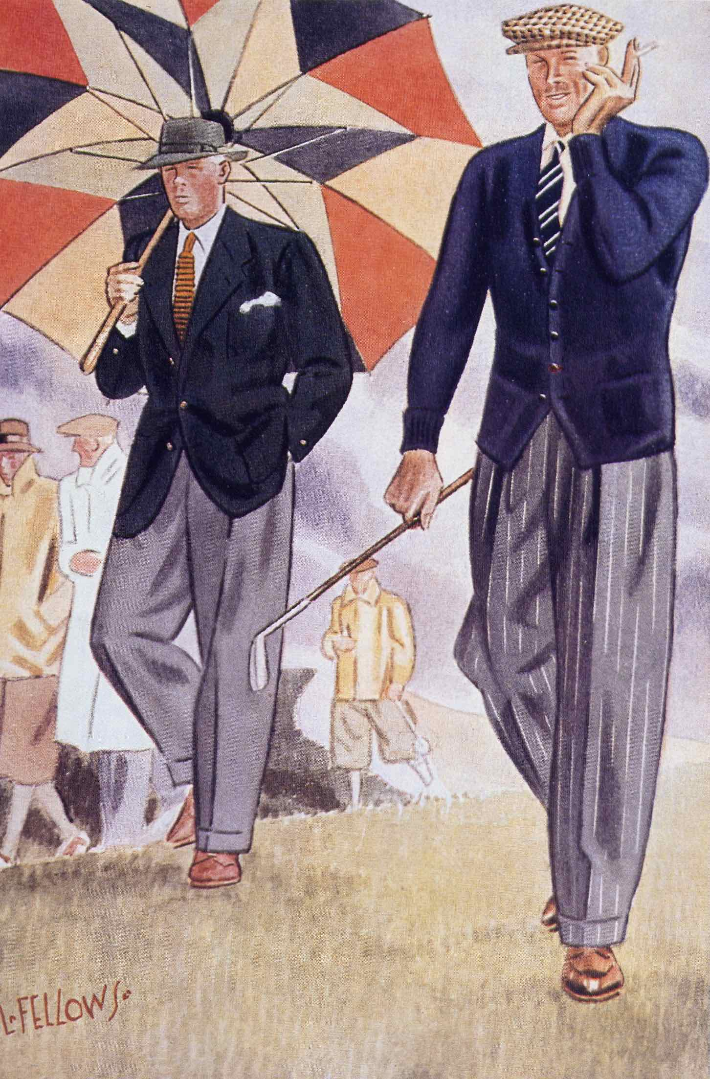 A classic Apparel Arts golfing garb illustration by the great Laurence Fellowes.