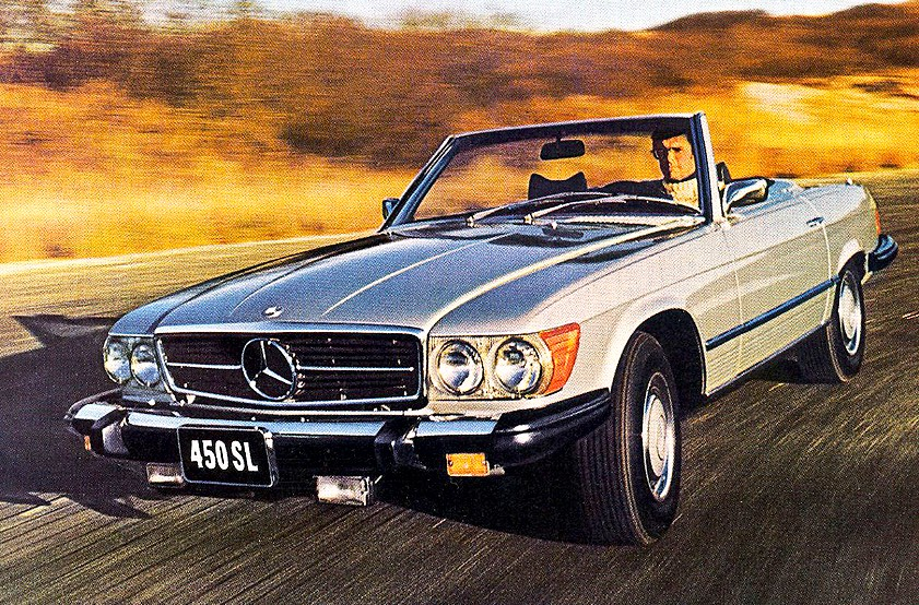 "A classic Benz 450 SL. As Alexander Kraft wrote in his  Menswear 10 Commandments , ""instead of a new Honda, why not buy a vintage (but well maintained) Mercedes SL? Same price, but light years ahead in style, and an excellent long-term investment."""