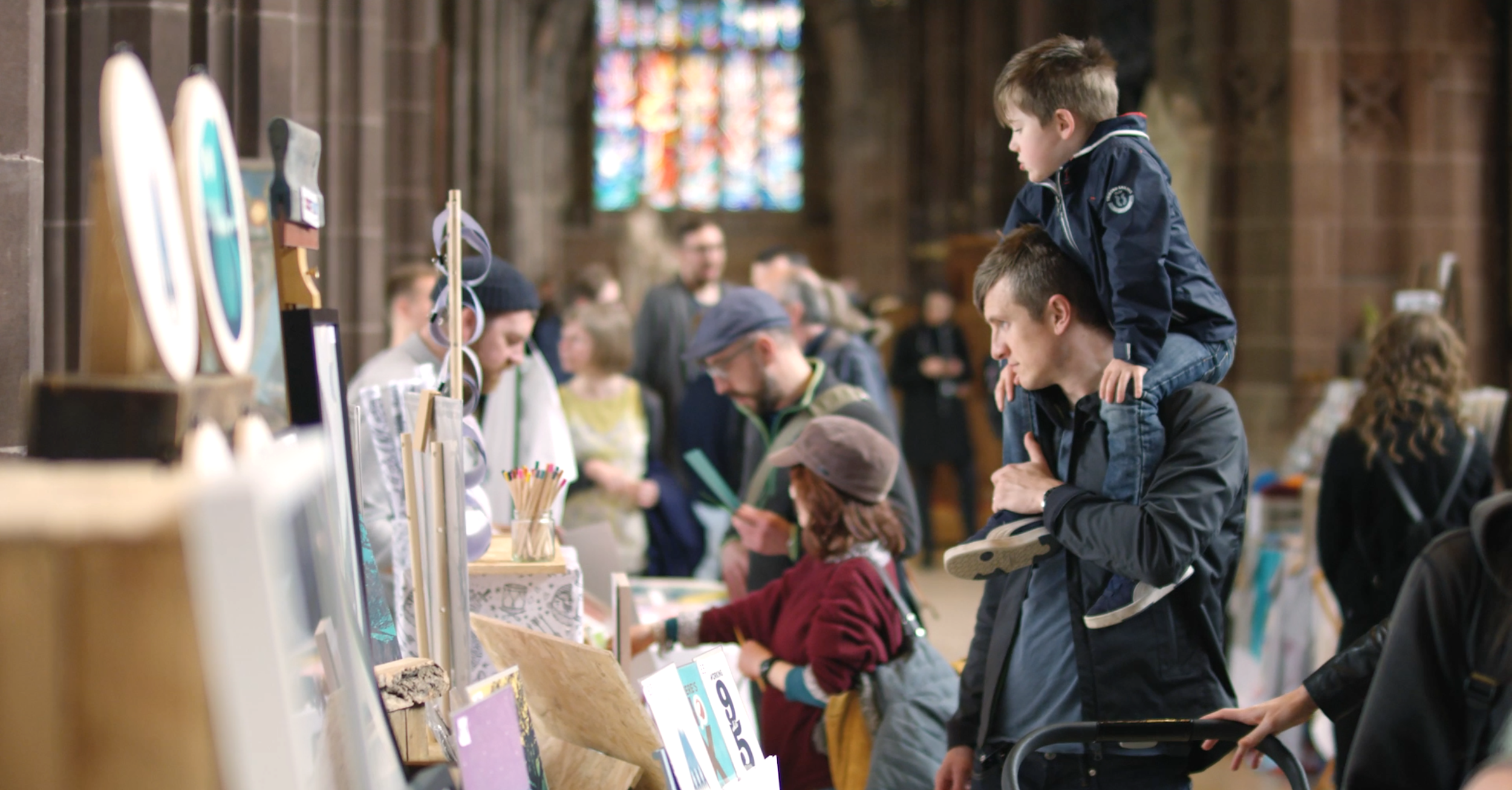 Manchester Print Fair at Manchester Cathedral, April 2018 by We Are Invite
