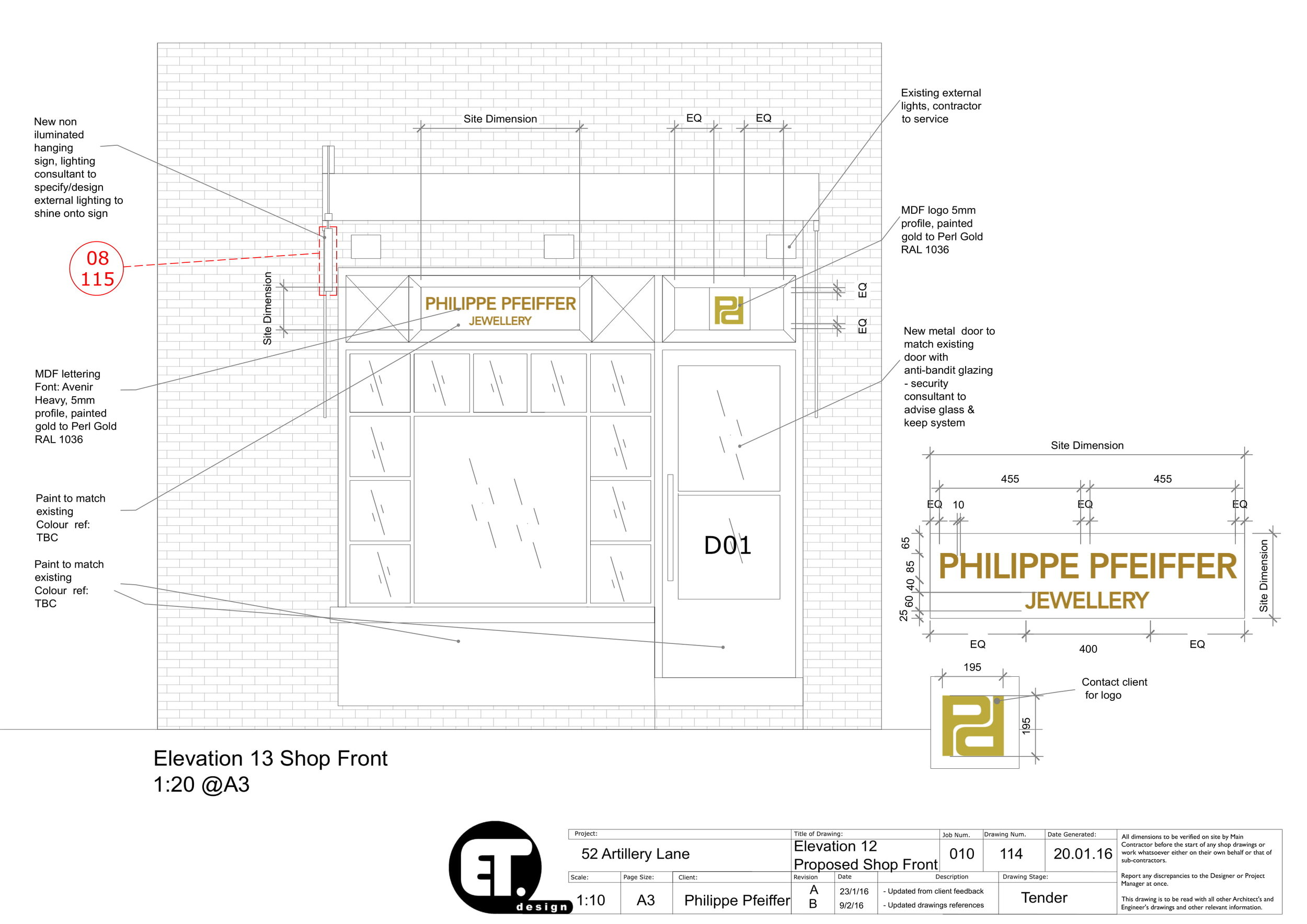 TECH DRAWINGS - A comprehensive technical drawing package produced using AutoCAD. Detailed information for building tender.