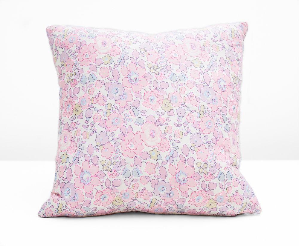 Liberty Print Cushion - Betsy Rose - 23 GBP