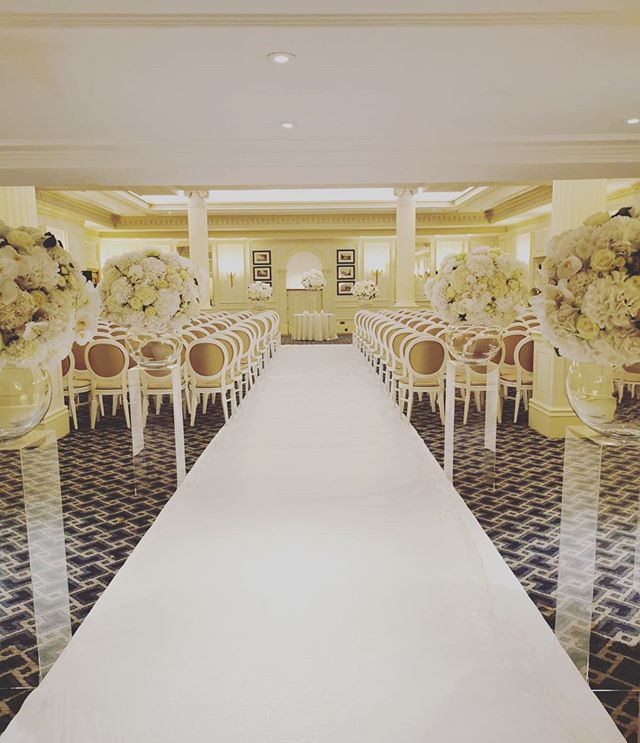 A stunning set up for a magical ceremony @thesavoylondon