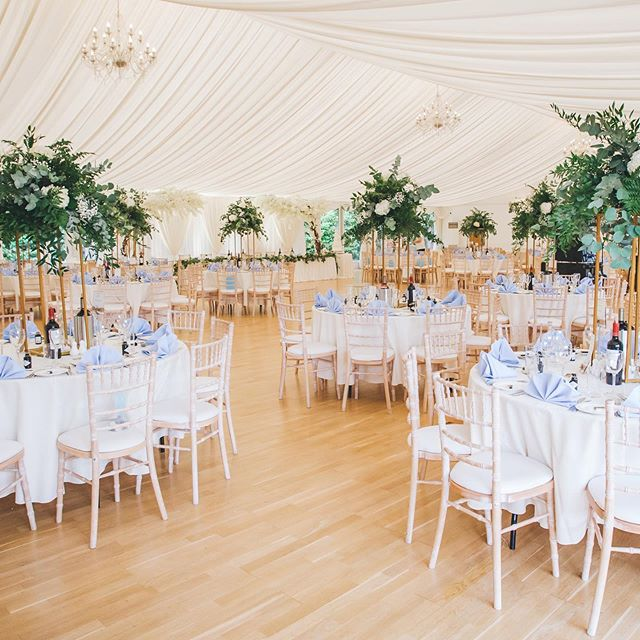 A beautiful room shot at @hylands_estate which includes our gold stands, table dressing, backdrop and blossom trees.  Contact info@rubello.co.uk for details WWW.RUBELLO.CO.UK