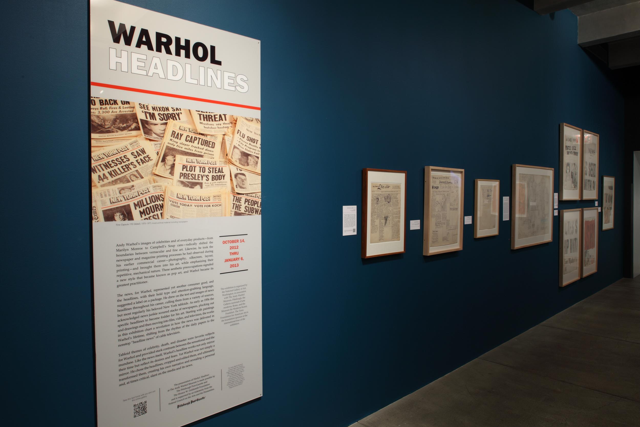 Warhol - Headlines at The Andy Warhol Museum, 2012 0003.JPG