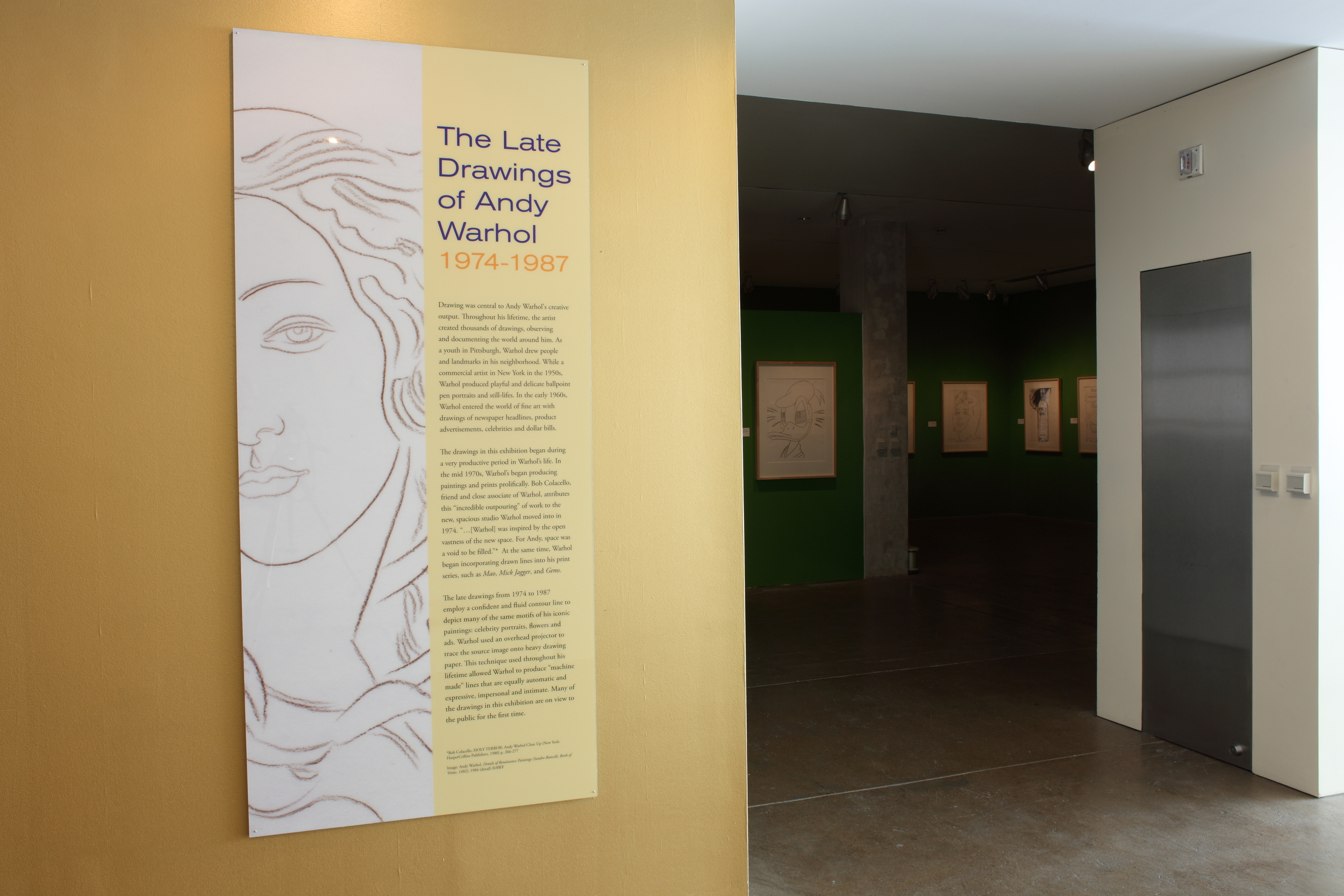 The Late Drawings of Andy Warhol exhibition, 2010 001.JPG