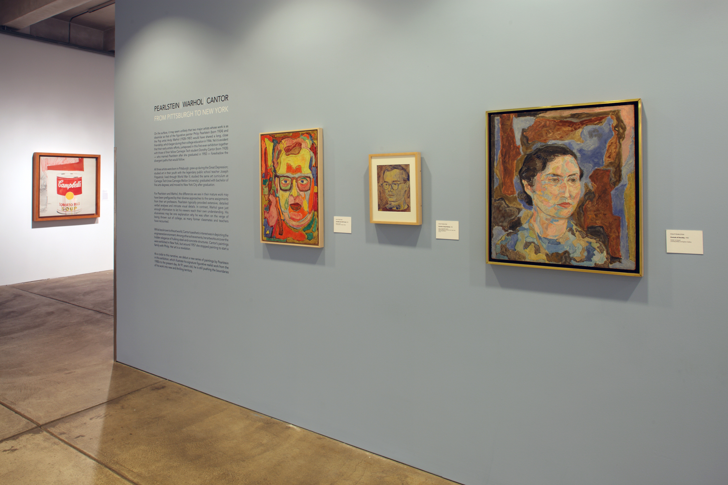 Pearlstein Warhol Cantor - From Pittsburgh to New York at AWM, 2015 0002.JPG
