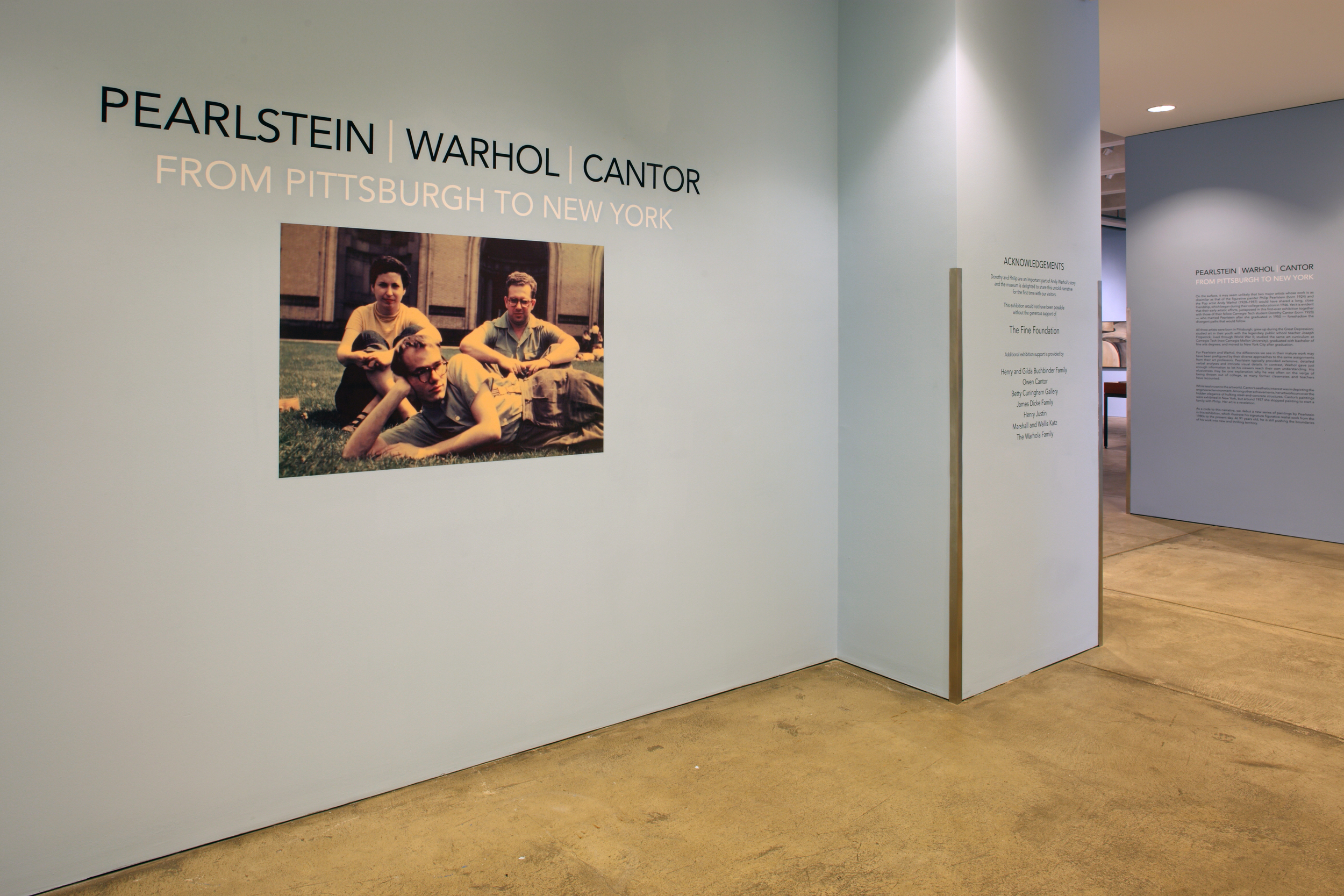 Pearlstein Warhol Cantor - From Pittsburgh to New York at AWM, 2015 0001.JPG