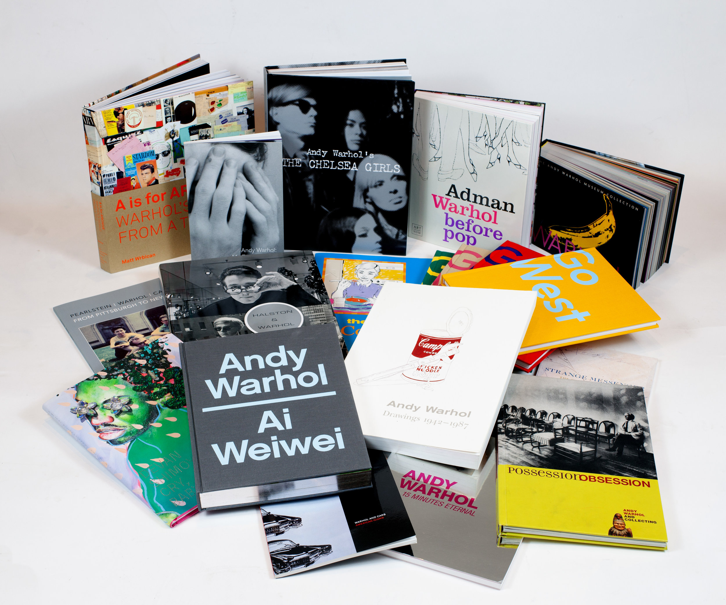 Publications produced by or in collaboration with The Andy Warhol Museum. Photograph by Becky Shock