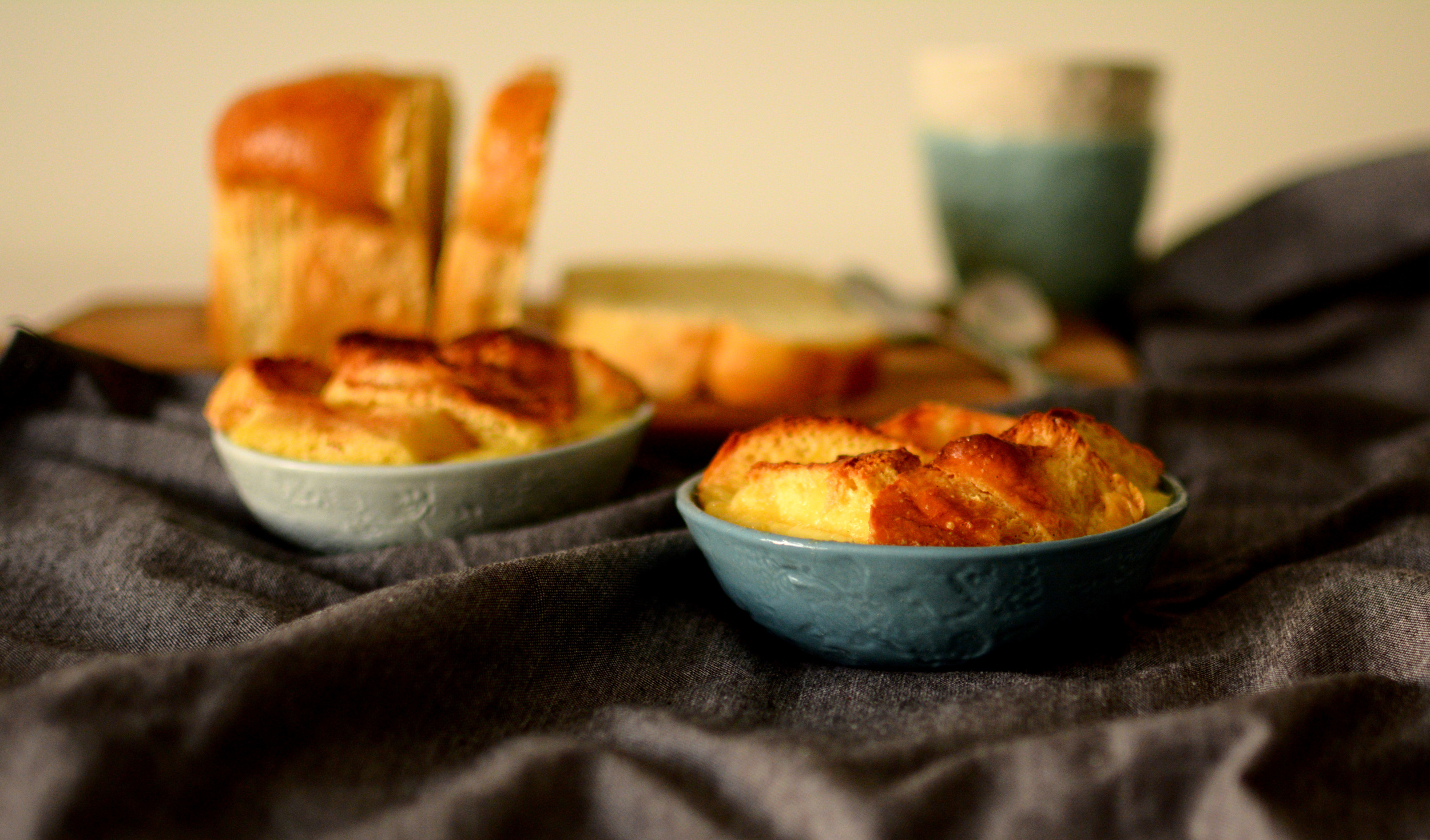 Bread and Butter Pudding baked in a Nibble bowl