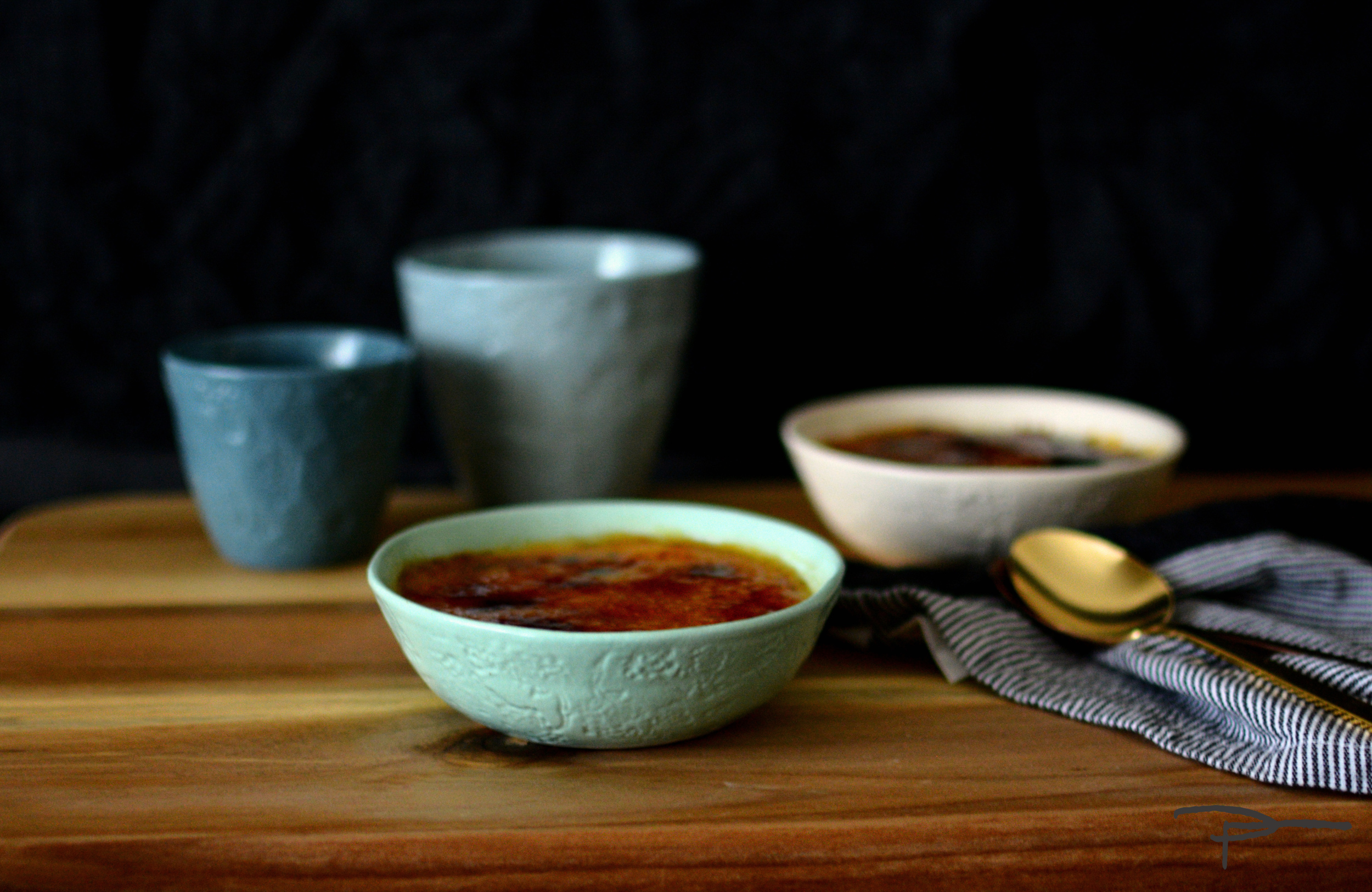Mocha Creme Brûlée baked in Nibble bowls