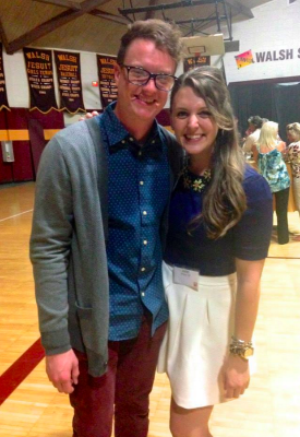 And.... here's a more redeeming photo of Vince and me at our awesome high school, Walsh Jesuit, for it's 50th Anniversary celebration last year.