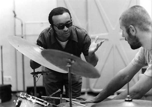 Met pianist Cecil Taylor, 28 juni 1967 in Hilversum. Foto Pieter Boersma