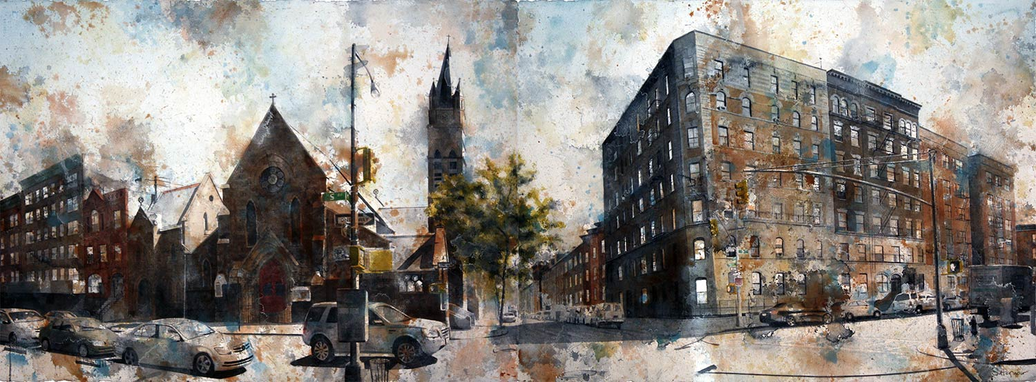 Kate's Street (5th Ave & West 127th Street) (Diptych)