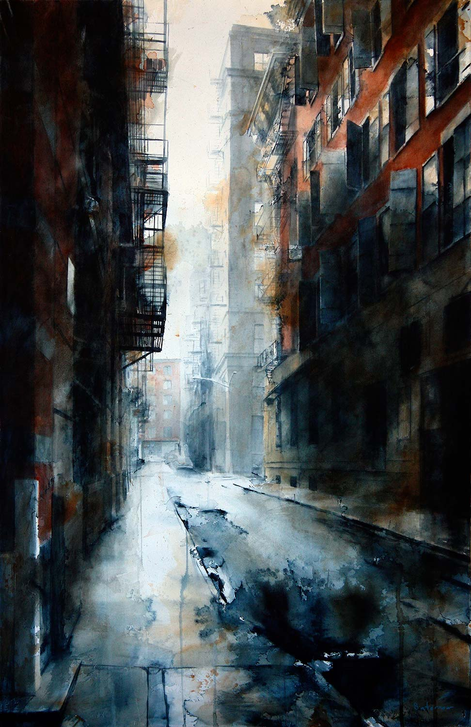 Cortlandt Alley Morning, rain
